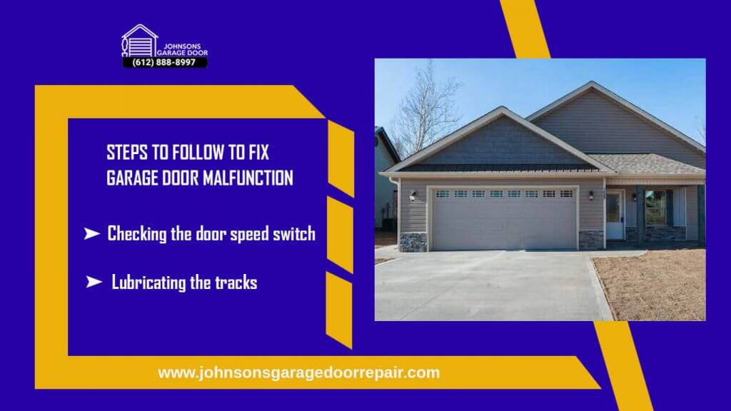Steps to follow to fix garage doormalfunction