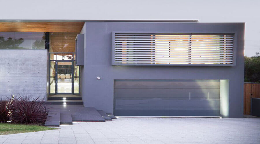 Frameless garage door