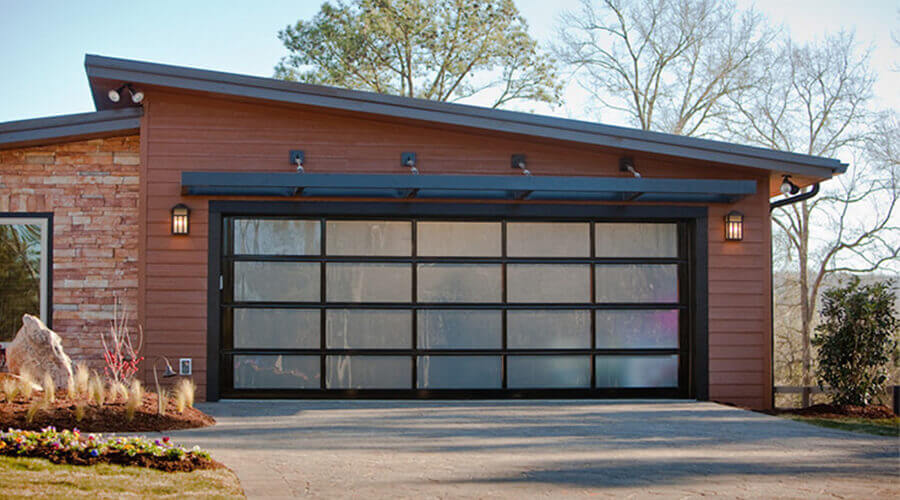 Frosted Acrylic Garage Door
